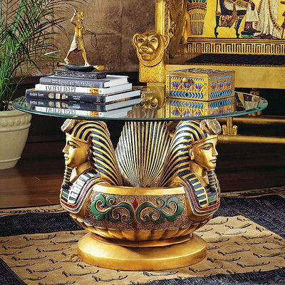 design-toscano-three-heads-of-tutankhamen-sculptural-coffee-table