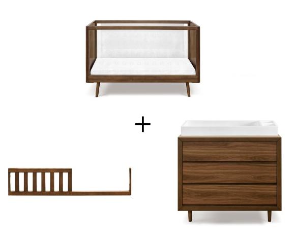 ubabub-nifty-clear-crib-dresser-combo