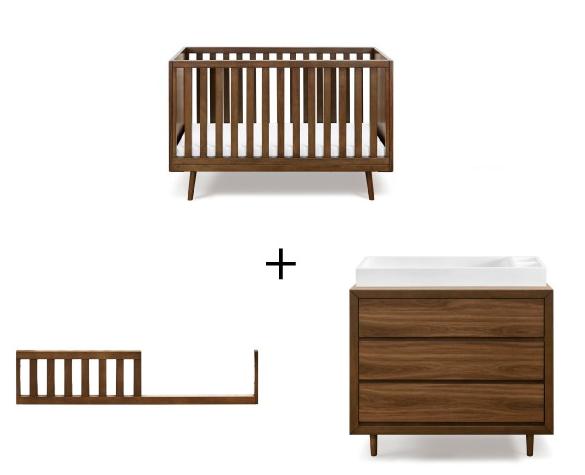 ubabub-nifty-timber-crib-dresser-combo