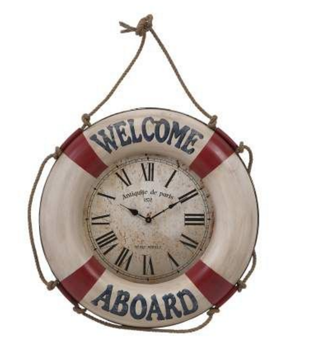 welcome-aboard-wall-clock