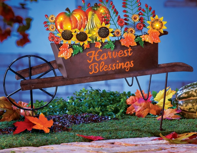 autumn-harvest-wheelbarrow-yard-stake