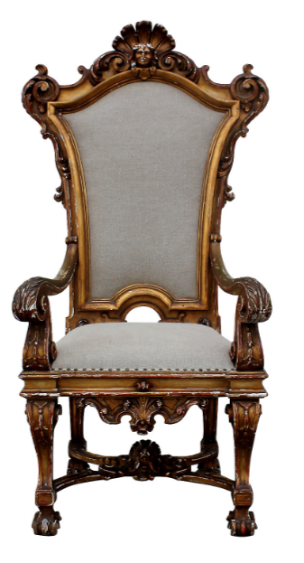 Antique Italian Throne Chair