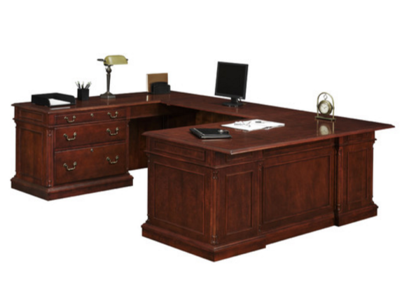 Darby Home Co Executive Desk with HPL Top