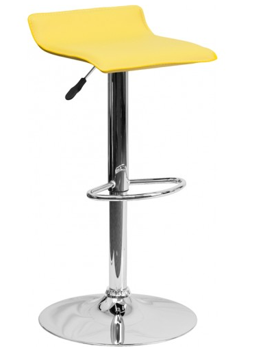 modern-yellow-bar-stool-chrome-base