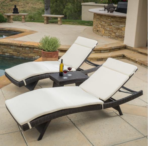 Home Loft Concepts Rio Vista 3 Piece Chaise Lounge Set