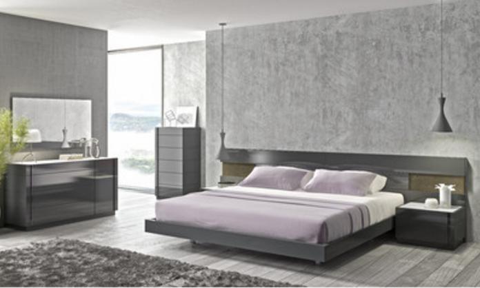 jM Furniture Grey Bedroom Set