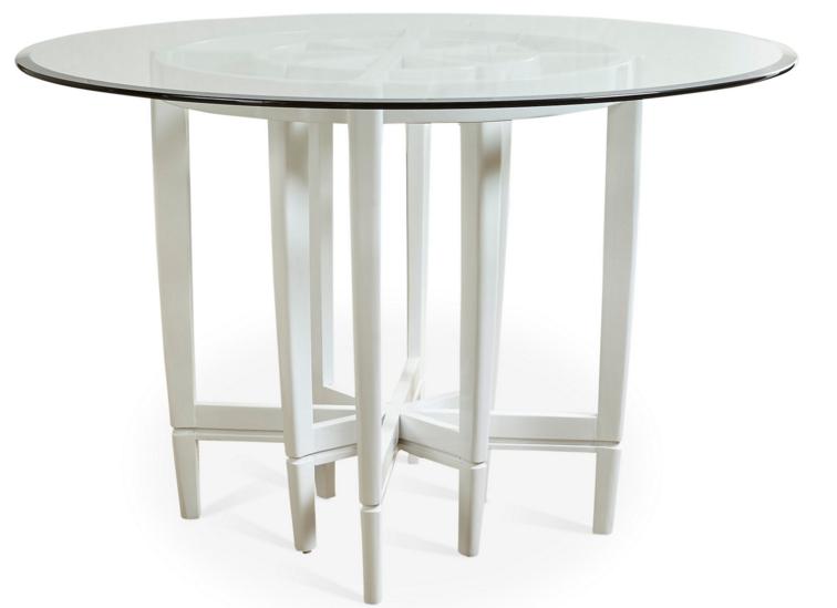 Farrallon 31_ Round Dining Table, White