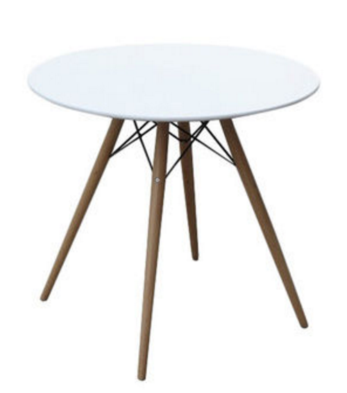 Wood and Fiberglass White 48-inch White Mid-century Style Dining Table