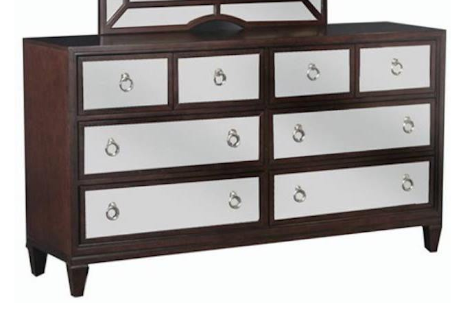 Traditional brown dresser
