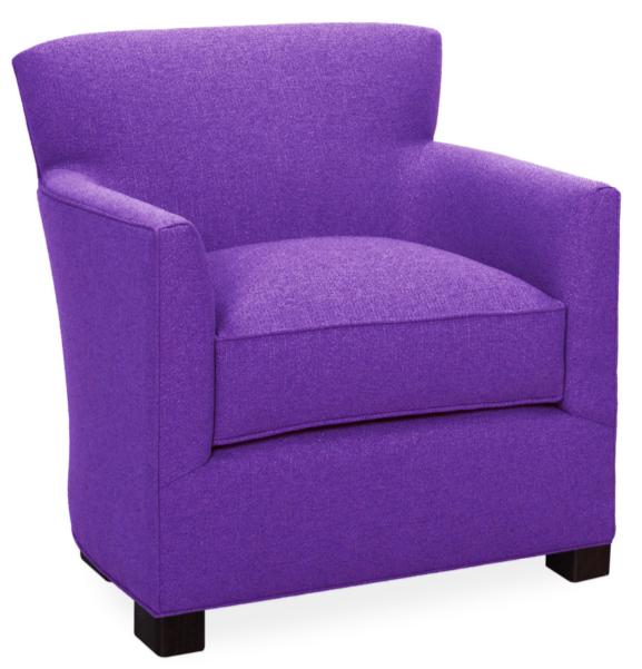 Modern Purple Arm Chair Roean