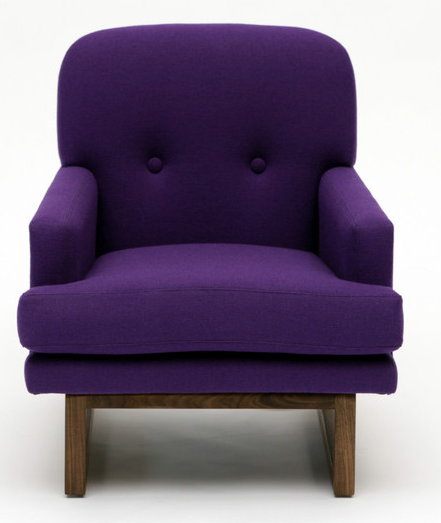 Purple Modern Luxurious Arm Chair