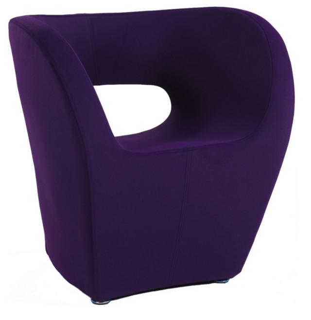 Contemporary Purple Arm Chair