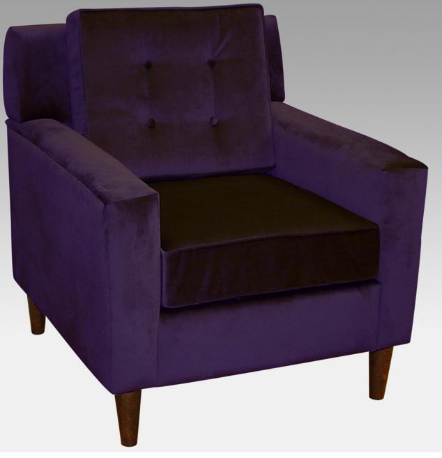 Purple Modern Arm Chair