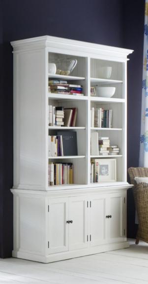 Halifax White Library Bookcase