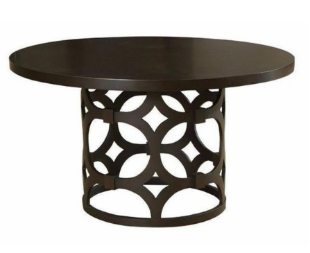 Contemporary Creative Dark Round dining Table