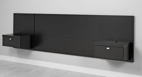 Elegant Black Modern Headboard
