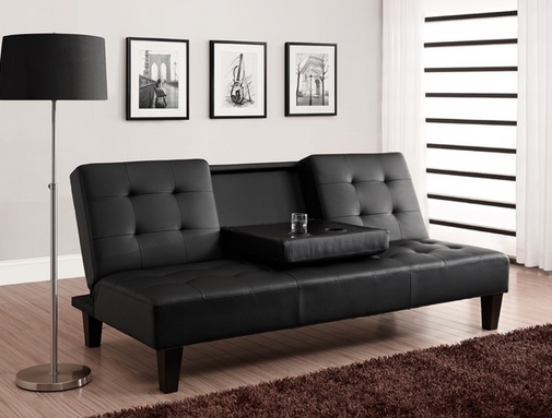 Convertible Sleeper Sofa Black