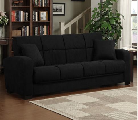 Black Convertible Sleeper Sofa