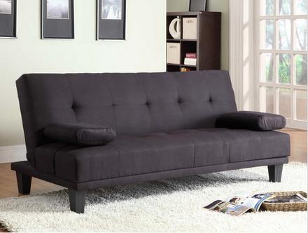 Milton Black Convertible Sleeper Sofa