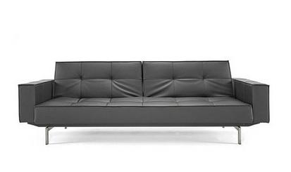 Pier Weiss for Innovation USA Black Convertivle Sleeper Sofa