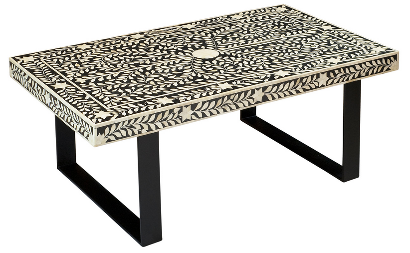 Black and White Aster Coffee Table