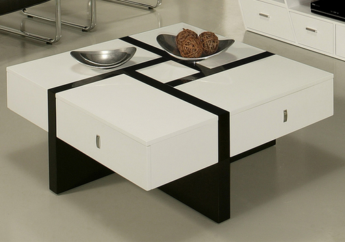 Black and White Modern Coffee Table