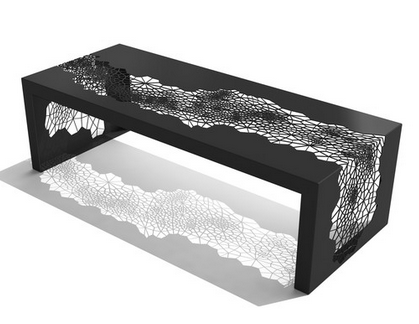 Arktura Black and White Coffee Table