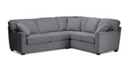 Fabric Possibilities Sharkfin-Arm 2-pc Left-Arm Sleeper Sofa Sectional Gray