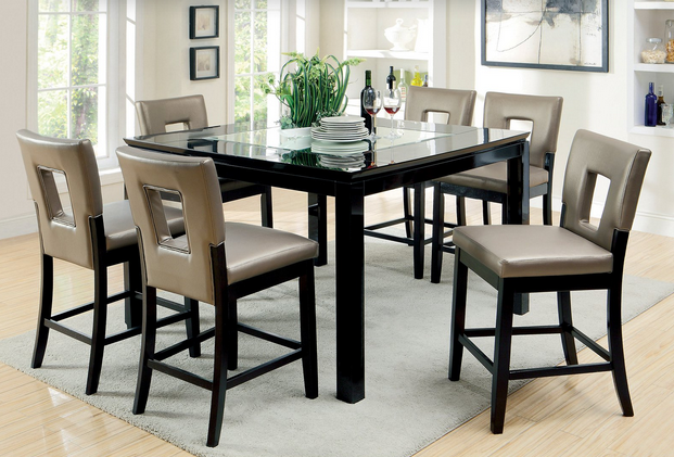 9-Piece Glass Dining Set - Furniture of America