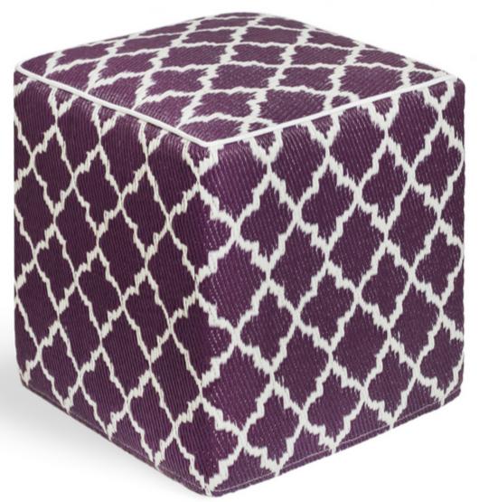 Purple eco-friendly ottoman