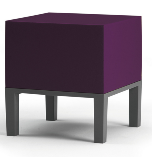 Modern Cube Ottoman Purple
