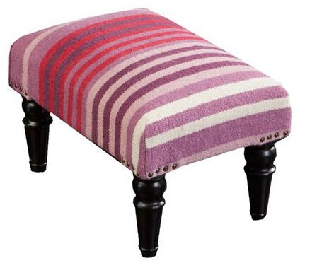 Purple-pink Harper Wool Ottoman