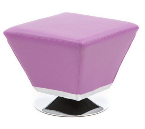 Trendy Purple Lavander Ottoman