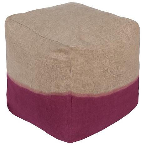 Purple and Gray Modern Cube Ottoman