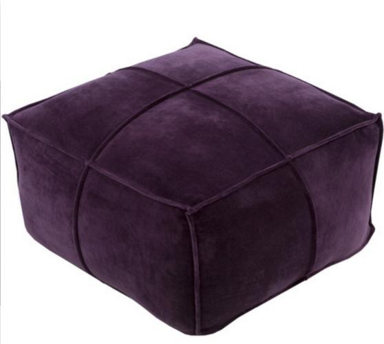 Purple Pouf Modern Ottoman