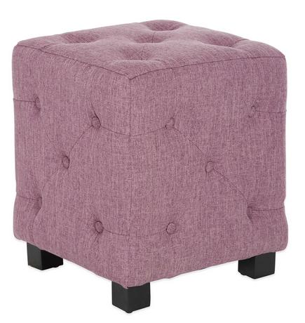 Cube Ottoman In Lavender Field Linen
