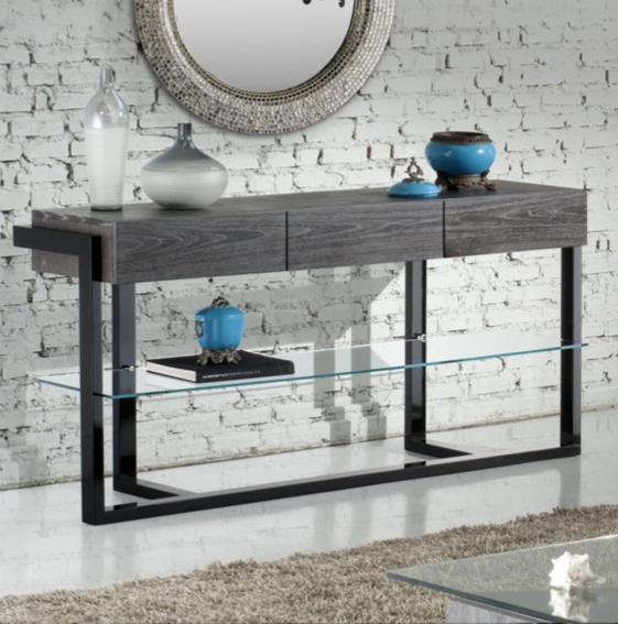 Signature Home Black Console Table by Furnitech