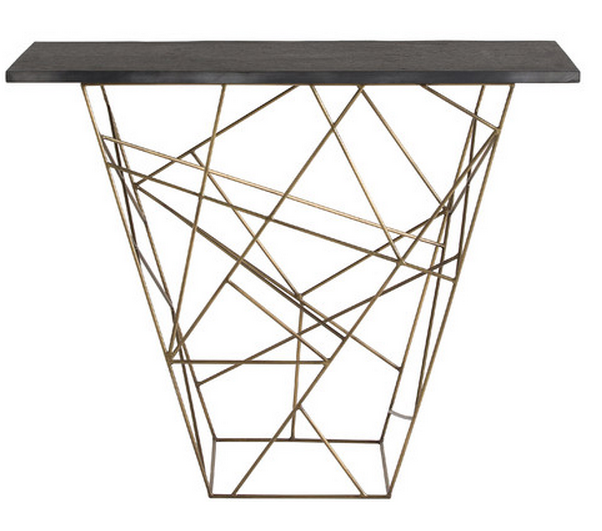 Modern Black Console Table Creative Design