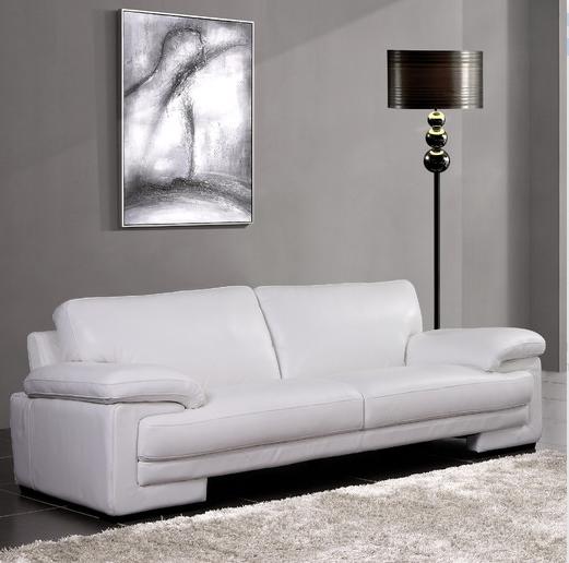 Modern creative white leather sofa