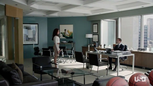 Harvey Spected and rachel in His Office