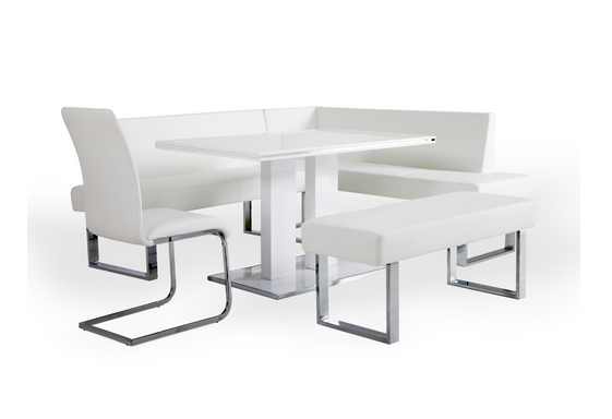 White Modern Dining Set 4 Piece