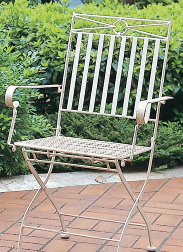 Iron Folding Chair with Arms