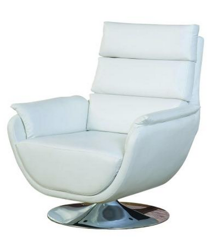 Faux Leather Swivel Accent Chair