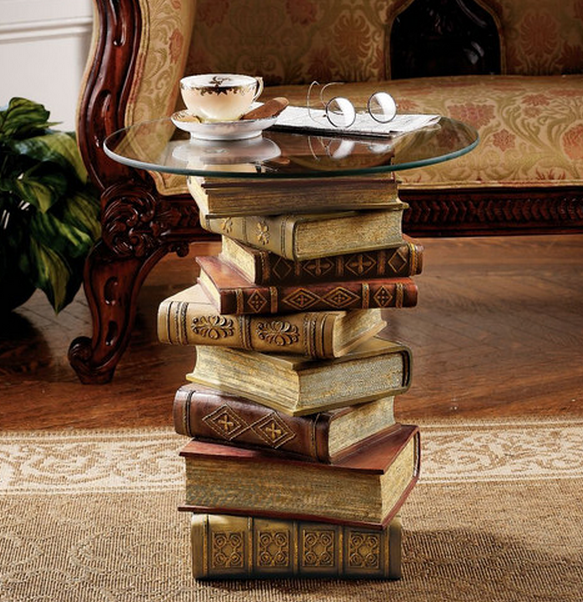 End table with Books