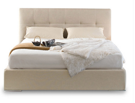Beige Queen Size Bed