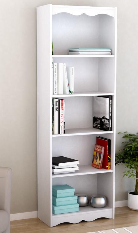 monarch specialty white bookcase