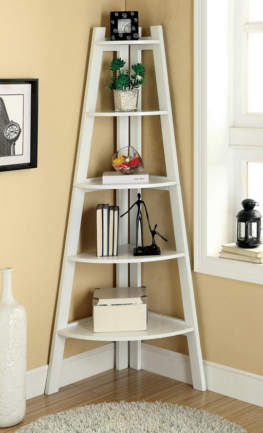 White ladder Bookcase