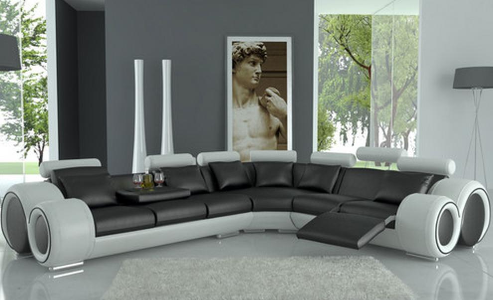 Modern Italian Design Dark Sectional Sofa