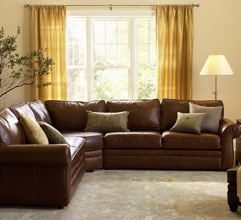 Leather Sectional Sofa With Wedge