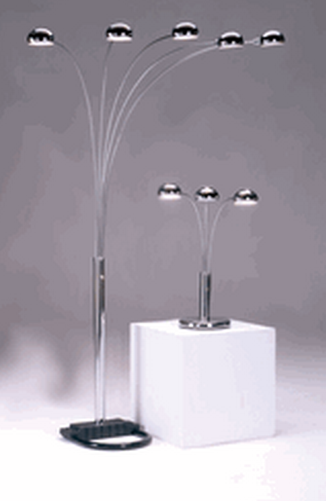 Chrome Spider Floor Lamp